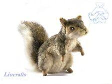 Sitting Grey Squirrel Plush Soft Toy by Hansa 5676