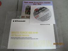NEW 2012 Kawasaki Brute Force 650 4X4i KVF650FC Owners Manual Ride Tips DVD 2583