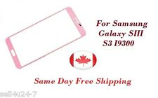 Pink Replacement LCD Front Glass Lens Samsung Galaxy S3 i9300 T999 NEW