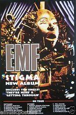 "Emf ""Stigma & 1992 U.K. Tour Dates"" U.K. Promo Poster - Alternative Rock Music"