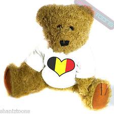 Belgium Love Heart Flag Mascot Novelty Gift Teddy Bear