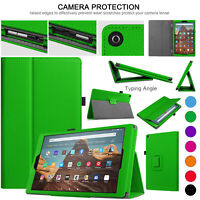 Case For Amazon Fire HD 10 9th Gen 2019 Leather Smart Stand Book Alexa Cover
