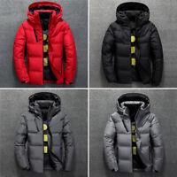 Mens Man Winter Ultralight Duck Down Jacket Hooded Puffer Outwear Coat Plus Size