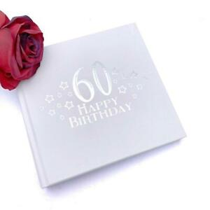 60th Birthday Photo Album For 50 x 6 by 4 Photos Silver Print