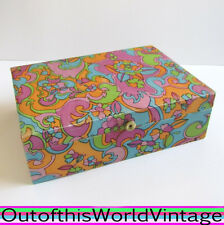 Vtg 60s MELE JEWELRY BOX PSYCHEDELIC carrying case MOD FLOWER POWER 1960s