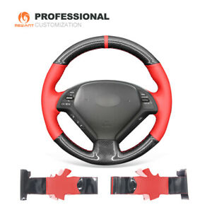 PU Carbon Fiber Leather Steering Wheel Cover for Infiniti G25 G35 G37 QX50 EX