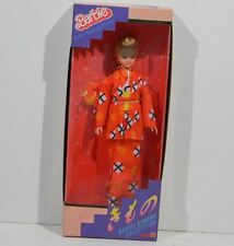 Vintage Blonde barbie doll MA-BA Kimono collection 1987 Japanese issue Orange