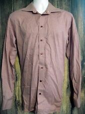 Eton Mens size 41/16 Contemporary Long Sleeve Button Front Red Check Shirt