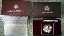 1999-P Dolly Madison Silver Dollar Proof w COA