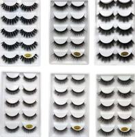 5Pairs Wholesale Handmade Real Mink 3D False Eyelashes Cross Thick Long Lashes/L