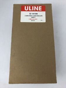 "ULINE 500 Coin Slab Envelope Holder ANACS Case 3 3/8 x 6"" Kraft Sleeve Jacket"