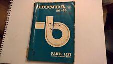 Used Genuine Honda 50 65 C50 C65 Parts List Catalogue 1967 Edition