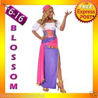 I48 Ladies Mystical Gypsy Circus Fortune Teller Fancy Dress Halloween Costume