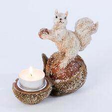 New Winter Squirrel Tea light Holder / Ceramic / Winter Decoration /13cm