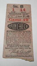 1930s Newark Bears Baseball International League Yankees Ticket Jacob Ruppert v2