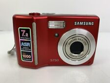 Samsung Digimax S730 7.2Mp Red Digital Camera W/ Ac Cord & Usb Cable