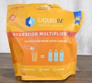 Liquid I.V. Hydration Multiplier Plus 24 Individual Packets Tangerine Non Gmo