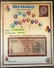 BIRTH DAY GIFT - TEN RUPEE NOTE NUMBER REFLECT ON UR BIRTH DAY-RARE,UNIQUE & UNC