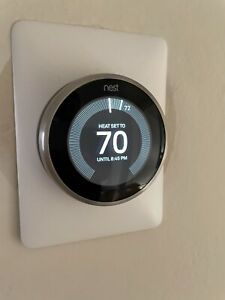 Nest T3007ES 3rd Gen Programmable Thermostat Stainless Steel