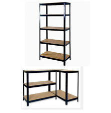 Garage Shelving 5 Tier 1.5m Boltless Workshop Storage Racking Shelves Unit