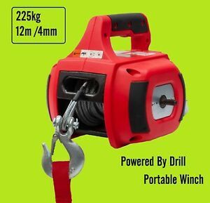 *NEW NEBULA PORTABLE 500LB ELECTRIC DRILL POWERED WINCH
