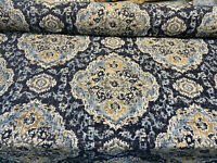 Eastview Sapphire Blue Damask Swavelle Chenille Upholstery Fabric By The Yard