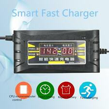 12V 6A Smart Car Intelligent Fast Battery Charger LCD Display For Car Motorcycle