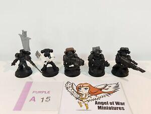 40K Space Marines Marine Devastator Squad /w Metal Upgrades (x5) PA15