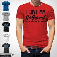 I Love My Girlfriend Mens T Shirt Funny Anniversary Top Boyfriend Tee Gift Red