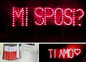 100 candeline rosse candele luminosa compleanno matrimonio bengala bengalini