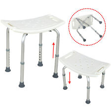 6 Height-Adjustable Medical Bath Tub Shower Chair  Bench Stool Backless Seat