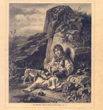 Zigeunerin - Sinti - Roma - Zigeuner - Holzstich um 1870