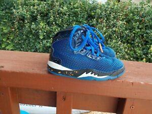 Nike Air Jordan SHO-NUFF NY High Top Toddler Boy's Sneakers Size 6c Blue/Black