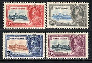 British Virgin Islands KGV 1935 Silver Jubilee Set SG103-106 M/Mint