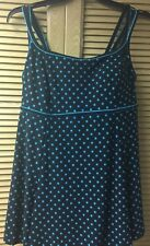 35dbdf4557eb2 NWT Le Cove Women's Turquoise 1-Piece Swimsuit Swimdress Size 18W Retail  $104