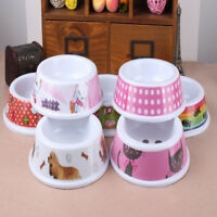 HB- BL_ Portable Pet Bowl Dogs Cats Water Food Feeder Puppy Home Travel Supply U