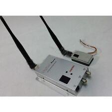 FPV 1.2G 1W 1000mw 8CH Camera Audio Video Image Wireless Transmitter + Receiver