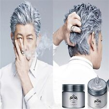 Hair Silver Wax 120ml Grey Natural Hairstyle Professional Pomades Gel Mud Men