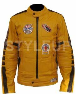 Kill Bill Bride Stylish Uma Thurman Slim Armour Casual Wear Biker Leather Jacket