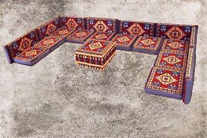 Orientalische Sitzkissen, Sitzecke, Sark Kösesi, 19-tlg. Orientalisches Sofa