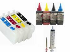 4 empty refillable Ink kit T126 126 for Epson NX330 NX430 Workforce 60 630 633
