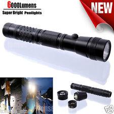 6000Lumens Tragbar Bright Flashlight Pocket LED Penlight Taschenlampen ZOOMABLE