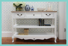 *REDUCED!* NEW French Provincial Hamptons Style pine/white hallway console table
