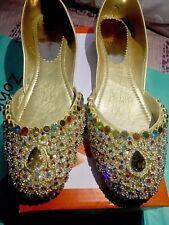 Work Multi Color Size 9 New Kundan Khussas Ladies Shoes Bead Stone