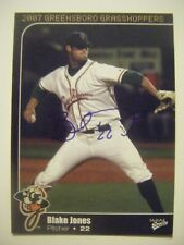 BLAKE JONES signed 2007 GREENSBORO baseball card AUTO NORTHWESTERN STATE (LA) nc