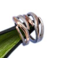 925 Silber Ohrringe Scharnier Creolen KlAPPCREOLEN rose, vergoldet 17,5mm