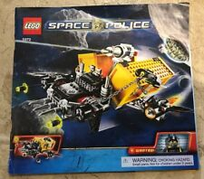 Lego Space Police 5972- Instruction Manual book only - No parts!- Free Shipping