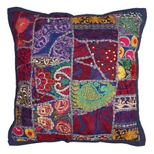 Indian Cotton Floral 40cm Couch Vintage Patchwork Bohemian Throw Pillow Covers