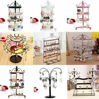 Vintage Earring Jewelry Necklace Display Metal Stand Hanger Holder Organizer