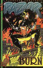 1995 RAZOR: BURN #1,3 PLUS RAZOR UNCUT #14 ( SET OF 3 ISSUES ) LONDON NIGHT  VF
